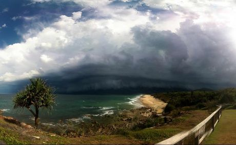 Central Queensland could be in for some storm activity today, after storms hit south-east Queensland over the weekend. This photo was taken by Jimmy Page on the Sunshine Coast.