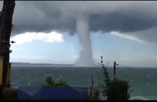 A water spout over Batemans Bay on the southern NSW coast.