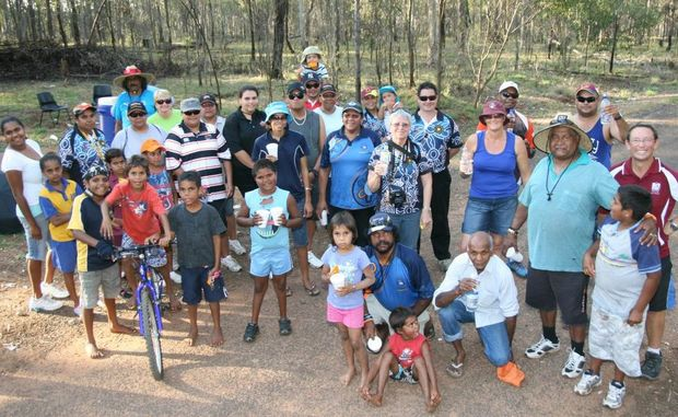 WALKING FOR A CAUSE: Walkers take part in Wednesday's fun run/walk at Cherbourg to help raise awareness and money for diabetes.