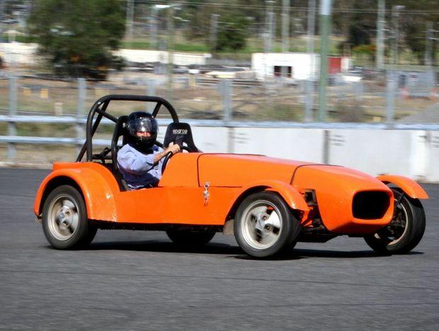Artie Ramm competing in a motorkhana in a car he built. Photo Allan Reinikka / The Morning Bulletin