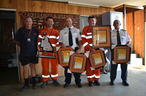 The Mitchell SES group, recipients of the EMQ Executive Directors Shield, Operational Response of the Year, and the SES Week Award.