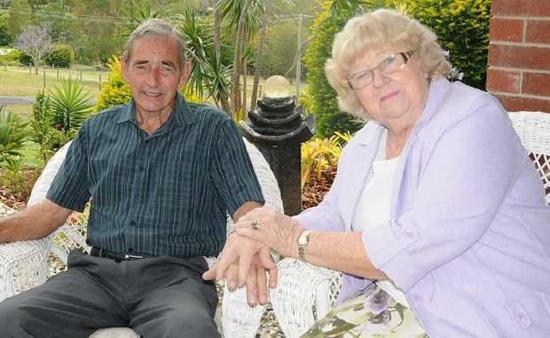 Col and Leone Gray celebrate their 60th wedding anniversary.