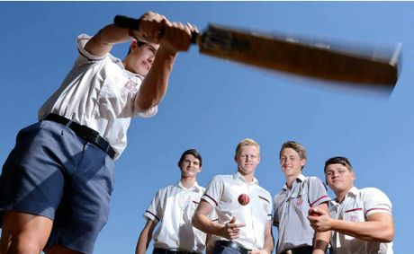 Sam Fellows, Brent Potbury, Charlie Davies, Justin Dawes and Carlin Anderson were part of the state title-winning Met West cricket team.