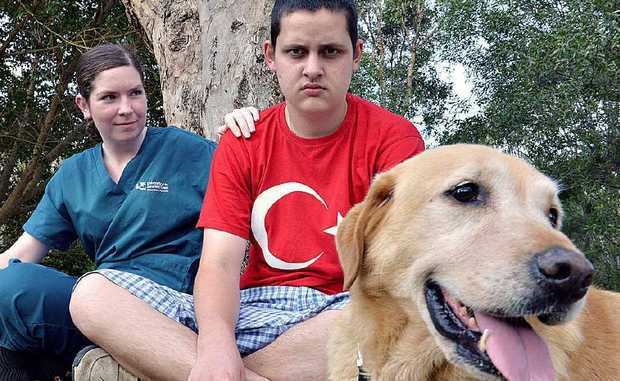 Jordan Carroll has found Spike a new home with Stephanie Hampson and her family.