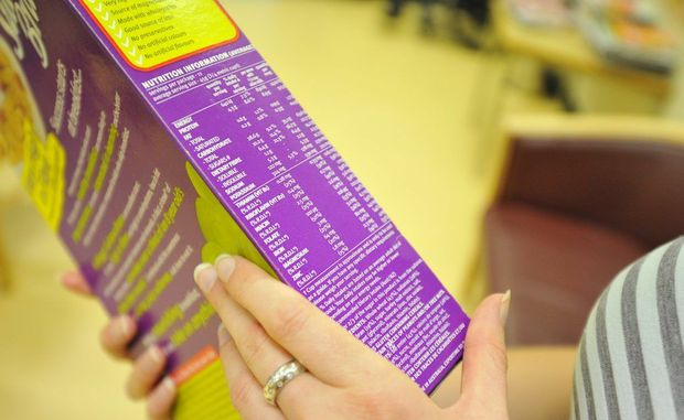 Consumers should compare products using the per 100g column in the nutrition information panel.