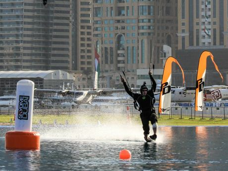SWOOP: Jubille Pocket resident Andrew Woolf in action at a previous competition in Dubai. Photo Contributed