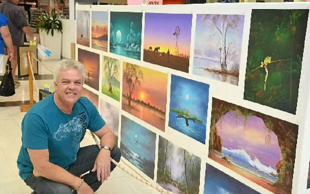 World-renowned Australian artist Wayne Clements has been in Emerald creating oil paintings for the past two weeks. An auction of his works will be held on Saturday and a raffle will raise money for the Emerald Hospital.