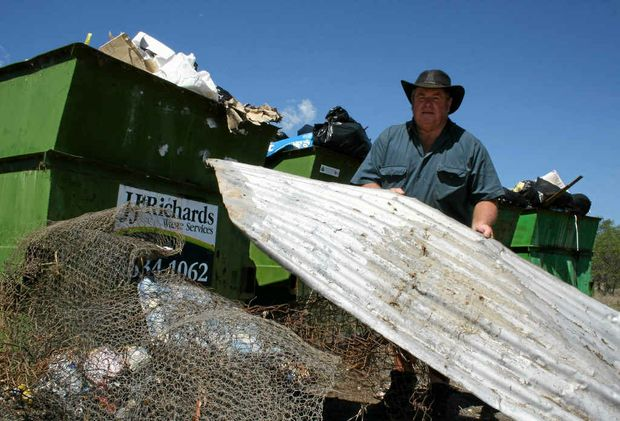 FED UP: Ropeley resident Graeme Becker is fed up with illegal dumping at the Ropeley Transfer Station.
