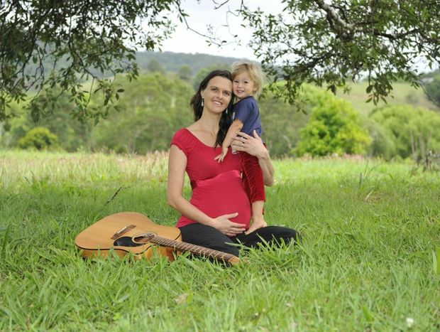 """Terri Nicholson of The Channon, with her son Elwood Nicholson-Moss, 2, hopes to see her new album """"Fall into Feeling"""" hit Number 1 on the Amazon Charts when it is released online today."""