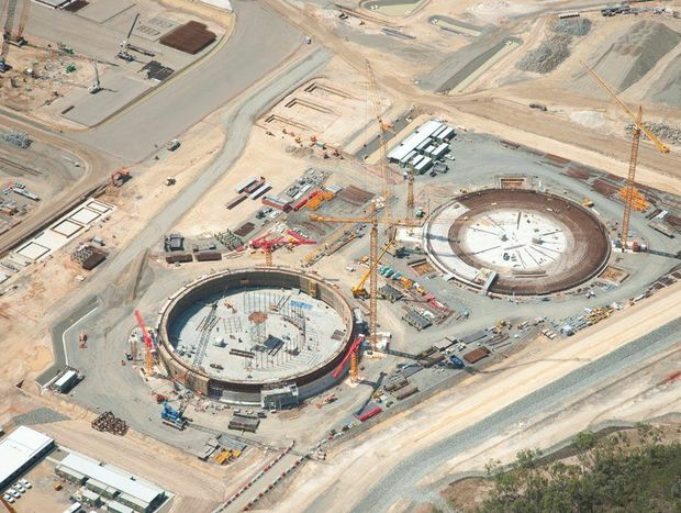 The GLNG project on Gladstone's Curtis Island is 45% complete.