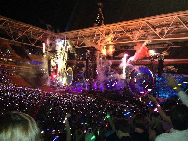Coldplay lit up Suncorp Stadium last night.