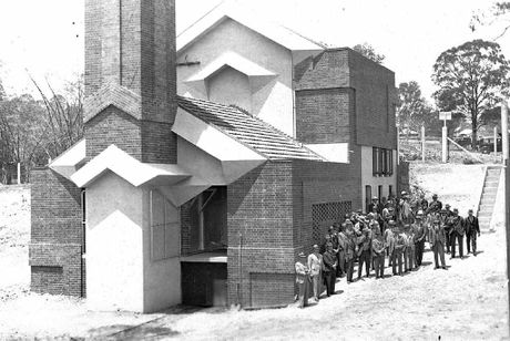 This interesting photograph from Picture Ipswich shows the opening of the Incinerator Theatre in
