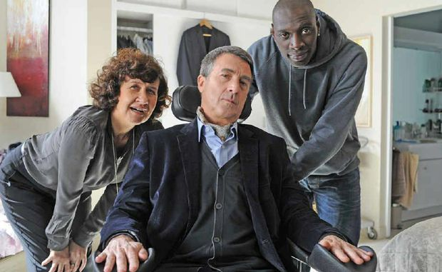 LAUGH OUT LOUD: A scene from The Intouchables (above) and Seven Psychopaths (below).
