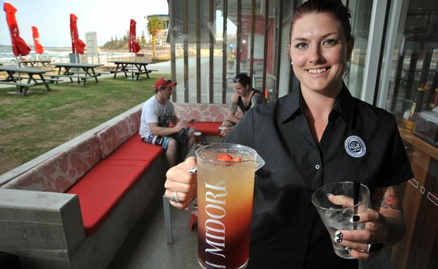Tahnee Samson at the new Bluff Bar and function room at the Alex Surf Club.