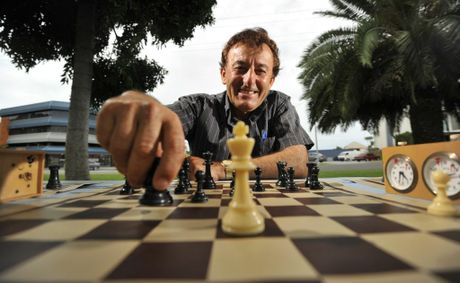 Louie Radovanovic engages in that old game of brain exercise, chess.
