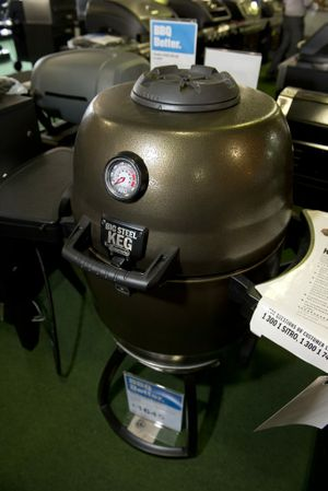 The Big Steel Keg takes patience for it to heat up, but the charcoal-flavoured results are delicious.