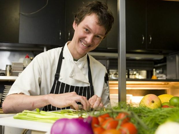 The Angel Cafe second-year apprentice Samwise Inskip prepares a delicious breakfast.