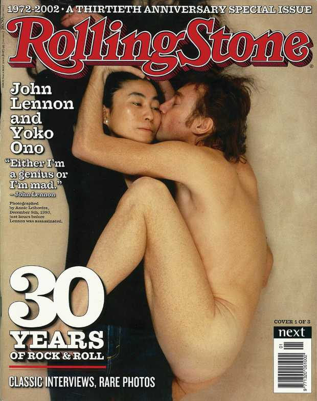 Cover photo of Beatle John Lennon and his wife Yoko Ono, taken in 1980, 24 hours before he was shot dead in his apartment. It was hailed the best magazine cover in history by the magazine industry. Photo: Contributed