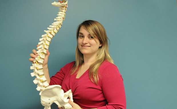 Emma Barham is one of nine chiropractors in her family.