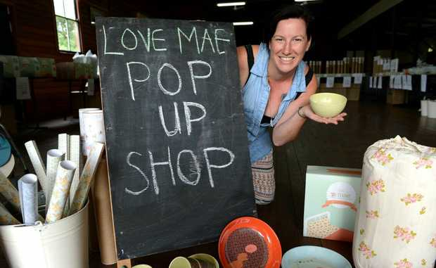 Peta O'Neill at Love Mae pop up Market in Stokers Siding. Photo: John Gass / Daily News