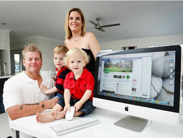 WELCOME: Darren and Amanda Smith and their children Zac, three, and Carter, 20 months are happy in their new community.