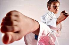 Seven-year-old Luke Marriott took to karate to help his confidence.
