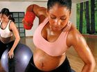 Pregnant women fit in building up their strength for labour day