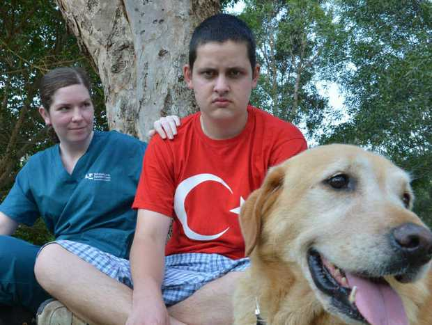 BITTER SWEET: Jordan Carroll has found Spike a new home with Stephanie Hampson and her family.