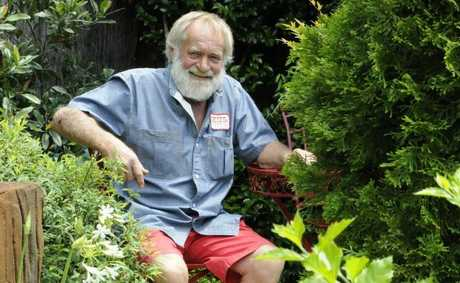 Roy Brunner during a quiet moment between visitors during the Open Garden to raise funds for the Toowoomba Hospice at 161 Geddes Street. Photo: Bev Lacey / The Chronicle