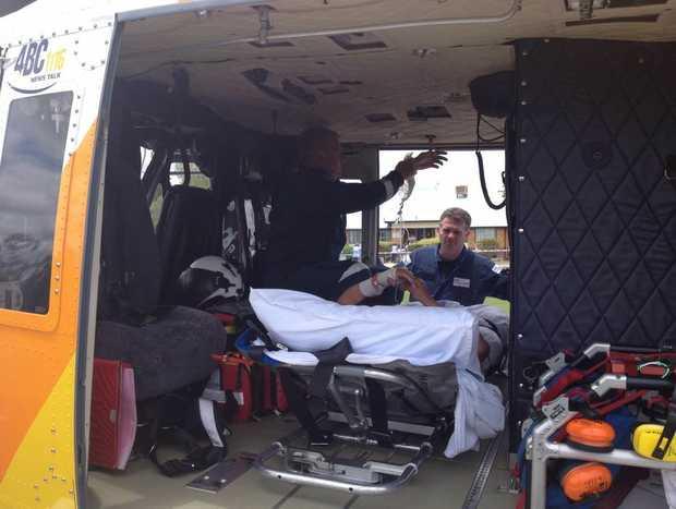 RACQ CareFlight prepare patient for transport from Murgon.