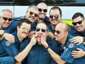 IPSWICH paramedics channelled the 80s movie classic Top Gun for Movember, replicating the iconic look including the marvellous mos.