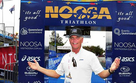 Garth Prowd, pictured at the Noosa Triathl