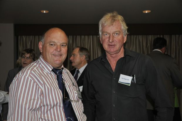 Member for Condamine Ray Hopper (right), pictured with Goondiwindi Mayor Graeme Scheu, has left the LNP and joined Katter's Australia Party.