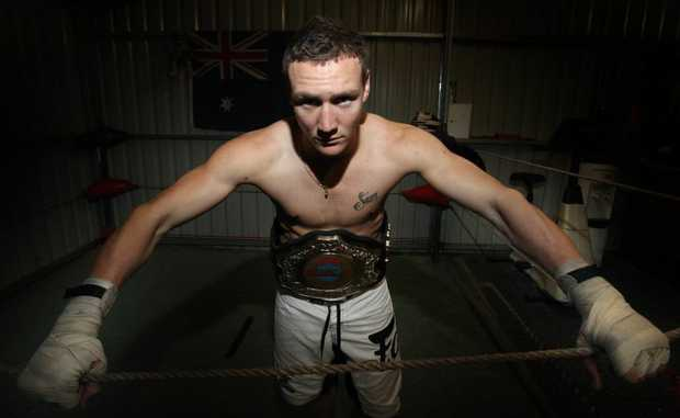 Nick Godbehere won the QLD Mod Thai State Title at the Carnage at the Colosseum III event at Redbank Sports Centre this month. Photo: Inga Williams / The Satellite