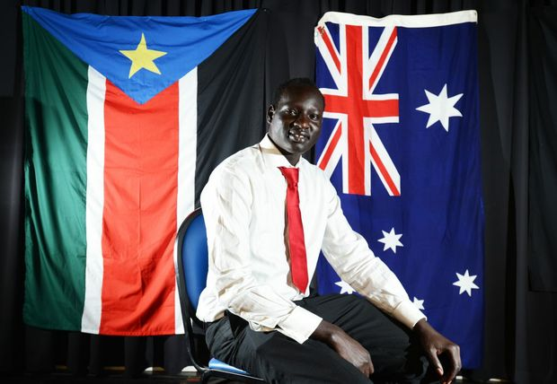 Johnson Maker-Adeng recently graduated from The Universirt of Queensland with a Bachelor of Science and a Bachelor of Economics. Photo Patrick Gorbunovs / The Northern Star