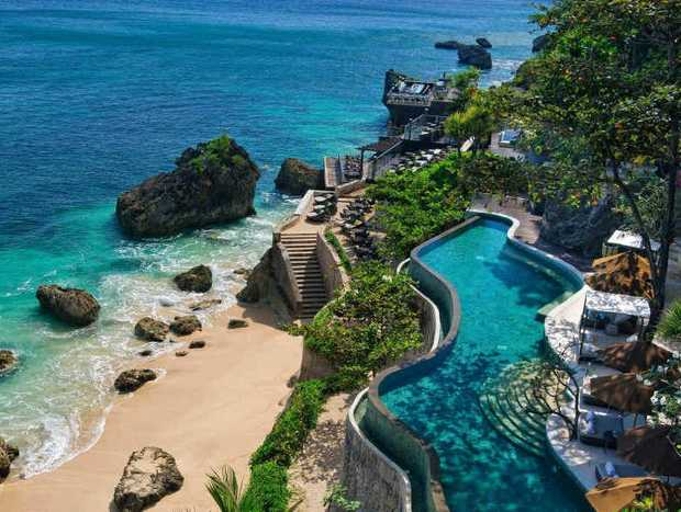 Ayana's ocean-front pool with the legendary Rock Bar in the background.