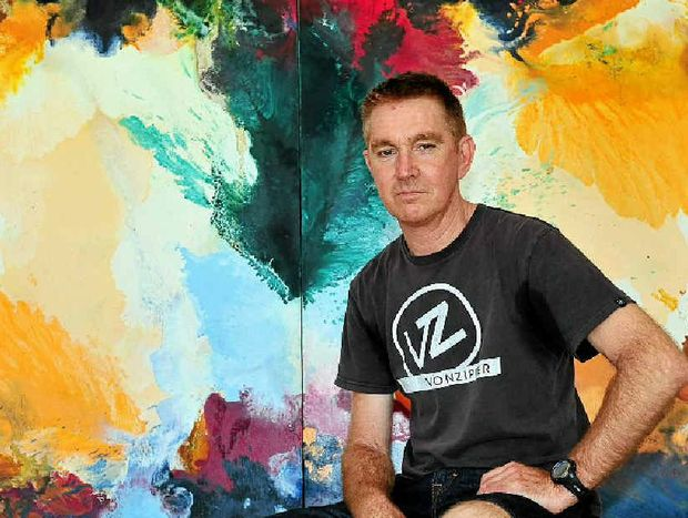 SECOND CHANCE: Double lung transplant recipient and artist Shaun Wake-Mazey.