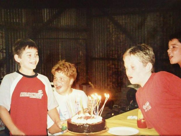 Daniel Morcombe during a 12th birthday party.