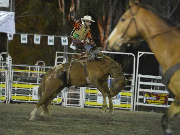 Taran Chirgwin in action at The Observer/McCosker's Calliope Rodeo earlier this month.