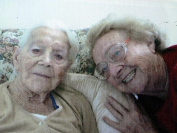 The last picture Betty Wicks had taken with her mother Georgina May Wicks before she died. Mrs Wicks was informed she had to return half of her mother last pension two weeks after the elderlly woman died.