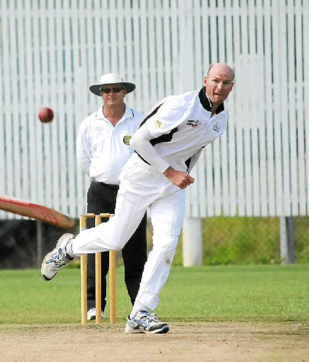 Gympie bowler Chris Hughes got Gympie off to a good, but unsustainable, start.