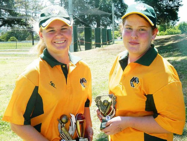 Ipswich pair Kimberley Blanchfield and Lexie Muller.