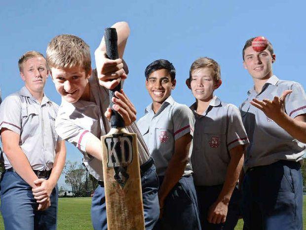 HIT PARADE: Ipswich Grammar School students Kye O'Sullivan, Jackson McQuilty, Matt Atkins, Vishan Illankoon, Harry Wood and Brodie Nickson will line up for Met West at next month's state titles.