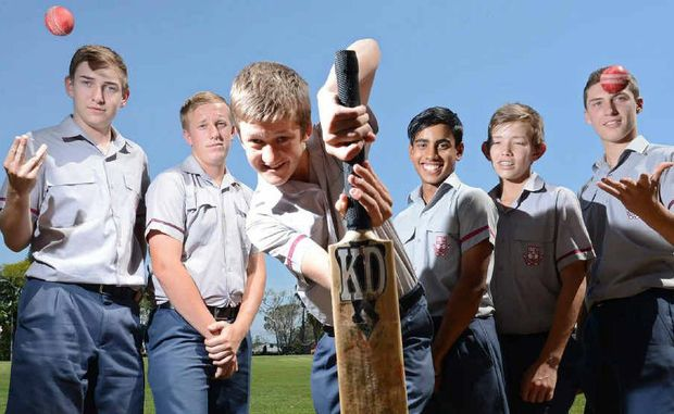 HIT PARADE: Ipswich Grammar School students Kye O'Sullivan, Jackson McQuilty, Matt Atkins, Vishan Illankoon, Harry Wood and Brodie Nickson will line up for Met West at next month's state titles.