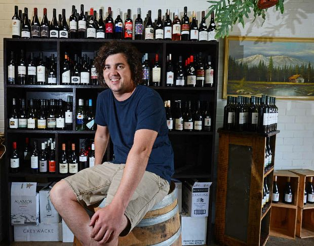 WINEMAKER: Jared Dixon from Clunes Store and Cellars enjoys making his own wine.