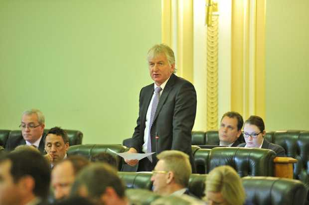 Condamine MP Ray Hopper in parliament.