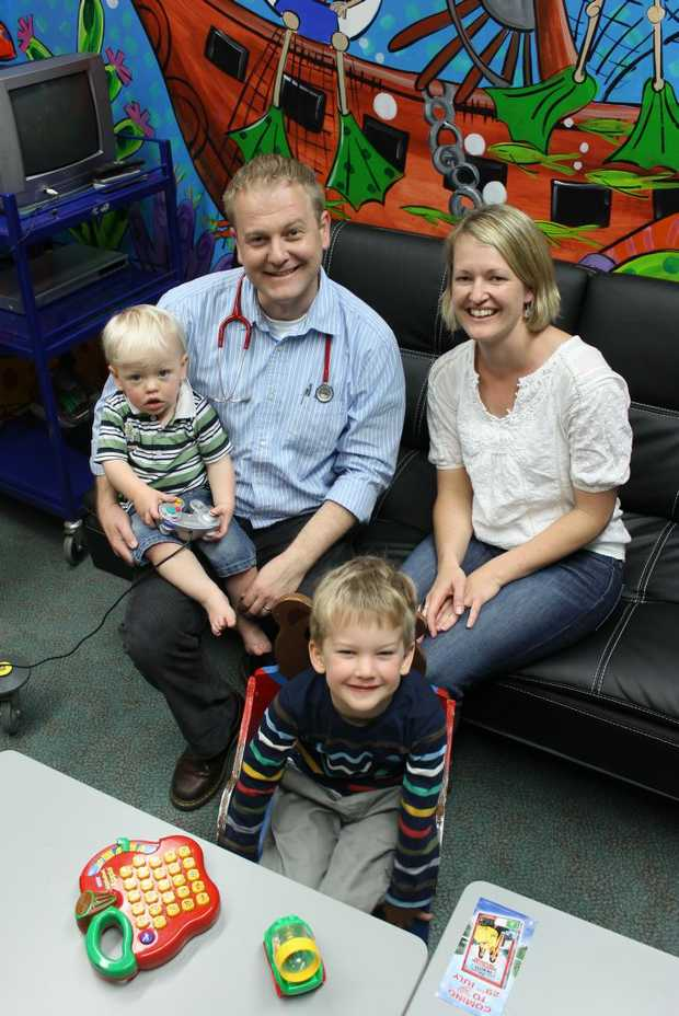 Dr Mike Parry with his wife Joanna and their sons Alistair and Will