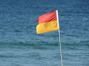 Red and yellow beach flag at Mooloolaba Beach. Photo:Warren Lynam / Sunshine Coast Daily