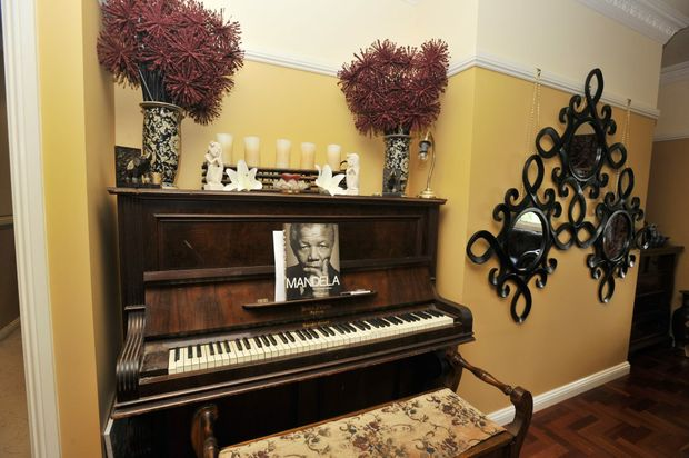 The piano that Hollie's daughter enjoys playing.