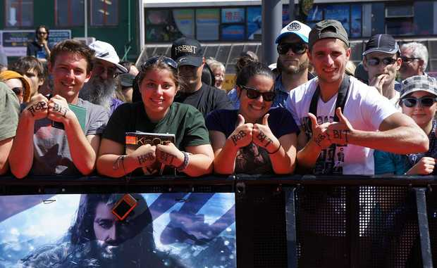 Hobbit fans queued for hours to see their favourite stars.